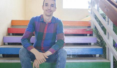 L'alumne de l'institut Ribera del Sió d'Agramunt guanyador del premi Exporecerca, Josep Ribalta.