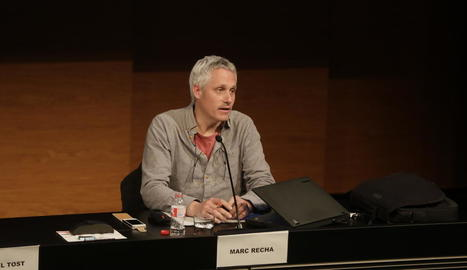El cineasta Marc Recha va oferir una xarrada ahir al CaixaForum.