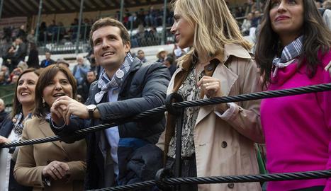 Casado, ahir, en una corrida de toros celebrada a València.