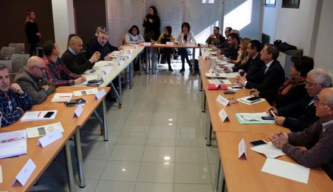 Una imatge de la reunió d'aquest dimecres a la seu d'Agricultura.