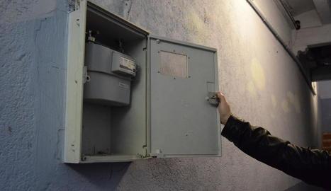 El comptador de gas dels afectats de la Seu.