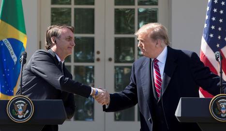 Els presidents es van reunir a la Casa Blanca.