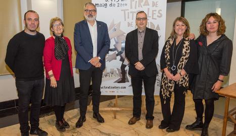 L'acte de presentació de la Fira de Titelles de Lleida.
