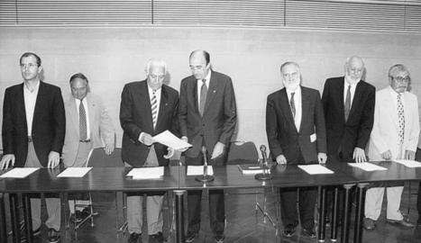 La constitució del Consell Social, amb el seu primer president.