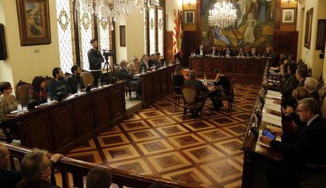 El ple de la Diputació del 31 de gener, on es va aprovar la creació de la comissió del 'cas Boreas'.