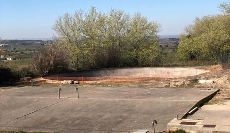 Imatge de l'estat actual de l'antic dipòsit de Puigverd.