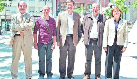 Miquel Àngel Balao, a l'esquerra de la fotografia.