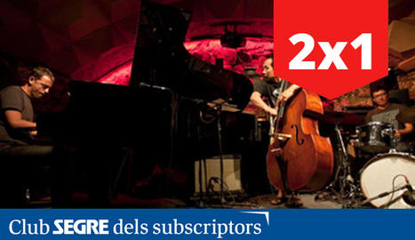 Albert Bover al piano, Masa Kamaguchi al contrabaix i David Xirgu a la bateria.