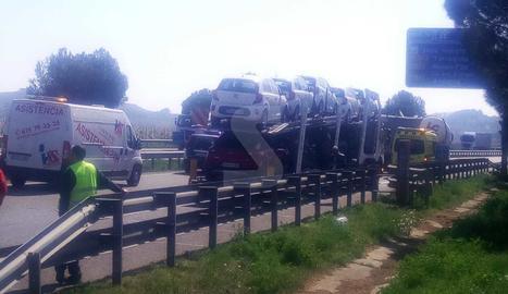 Imatge de l'accident a Alcoletge