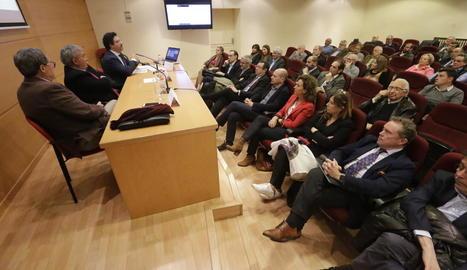 La jornada sobre l'aeroport celebrada a la Cambra de Lleida.