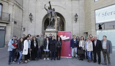 La presentació ahir a la tarda de la candidatura lleidatana d'En Comú Podem.