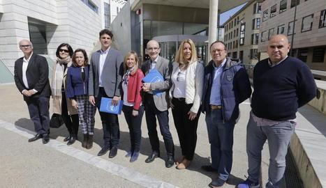 Els candidats del PP al Congrés i al Senat, ahir a Lleida.