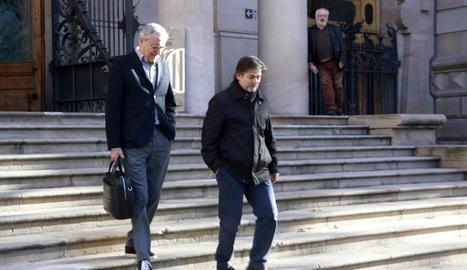 Imatge d'arxiu d'Oriol Pujol amb el seu advocat a les portes dels jutjats.