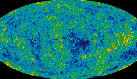 La radiació de fons de microones mesurada pel satèl·lit WMAP, prova de la teoria Big Bang