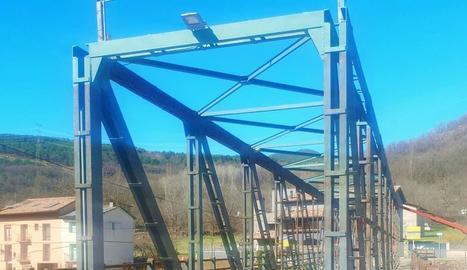 Imatge dels treballs al pont de Vilaller.