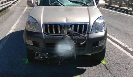 Mor un ciclista en ser envestit per un cotxe a l'N-260 a Martinet de Cerdanya