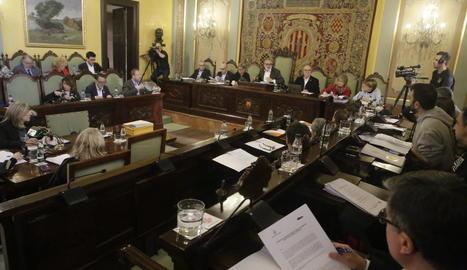 Imatge de l'últim ple de la Paeria de Lleida.
