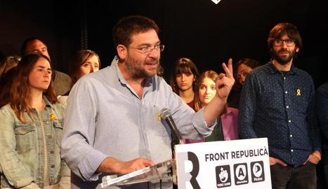 El cap de llista del Front Republicà per Barcelona, Albano Dante Fachin.