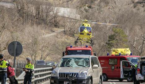 L'accident es va produir diumenge al migdia a l'N-260 a Martinet.