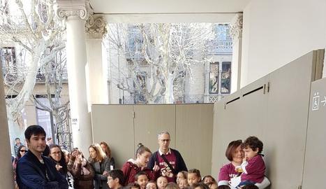 Alumnes de l'Escola Municipal de Música, diumenge a Manresa.