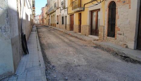 Les obres per urbanitzar el carrer Nou ja estan en marxa.