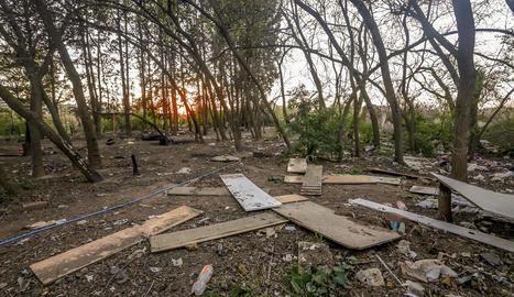 L'assentament ha estat vint anys en aquesta zona de Cappont, a prop dels Camps Elisis.