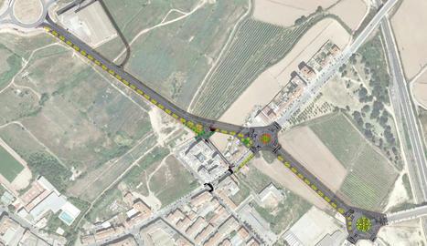 El vial cap a l'àrea comercial de Torre Salses tindrà dos rotondes i costarà 2,89 milions
