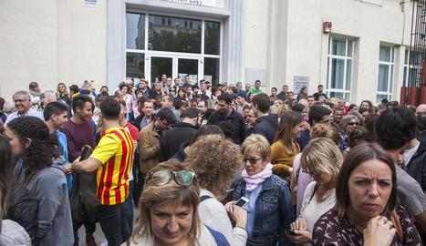 La celebració del referèndum a Agramunt.