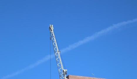 El punt on han instal·lat les antenes de telefonia.