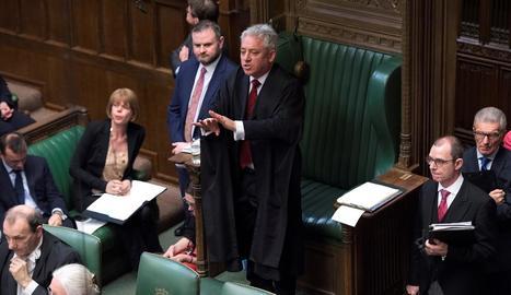 Imatge del president de la Cambra dels Comuns, John Bercow, durant la sessió de dilluns.