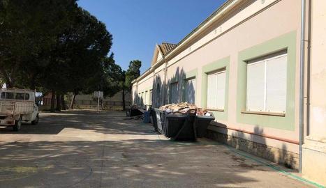 Obres del nou Centre de Serveis per a la gent gran d'Aitona.