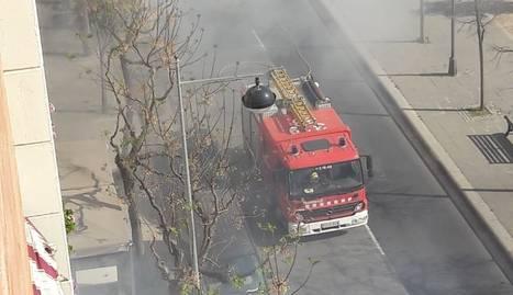 L'incendi, a Pardinyes.