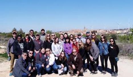 El grup d'estudiants nord-americans a la Granadella.