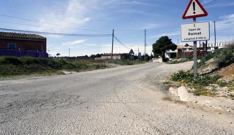 El camí de Raimat en el qual ja s'està treballant.