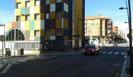 El carrer Sant Pelegrí de Tàrrega, on van tenir lloc els fets.