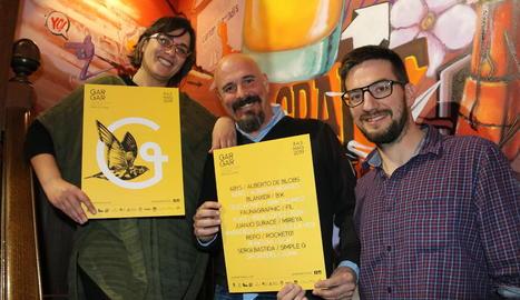 López-Pinto i Solsona van presentar ahir el Gargar a Barcelona amb Robert Coll, regidor de Penelles.