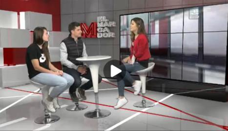 El primer equip femení de futbol del club AEM de Lleida a El Marcador