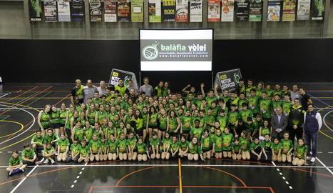 El Balàfia Vòlei es presenta amb nou rècord de jugadors