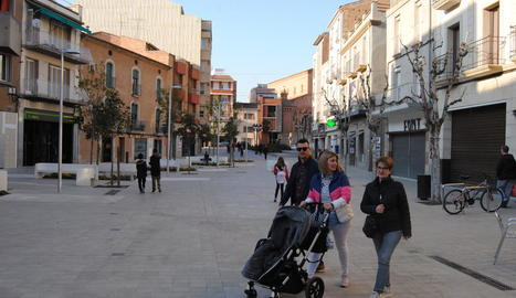 La plaça Manuel Bertrand, per a vianants.
