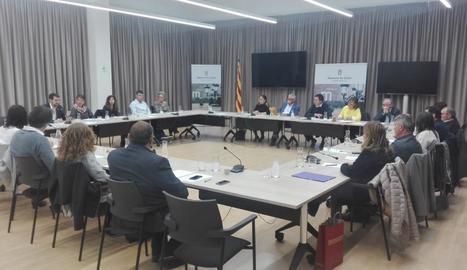 La sessió celebrada ahir a la Diputació de Lleida.