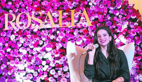 Rosalía, ahir durant la roda de premsa abans de l'actuació.