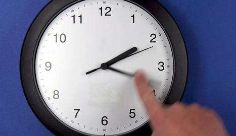 Aquest gest s'haurà de repetir per posar els rellotges a l'hora.