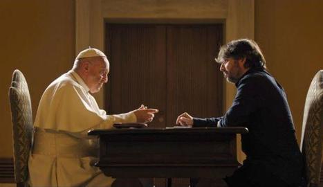 Évole i el papa Francesc, en l'entrevista al Vaticà.