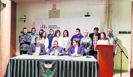 La presentació de la llista d'ERC a Vilanova de Segrià.