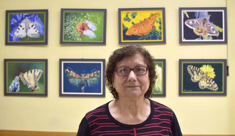 L'artista Trinitat Solé, ahir a la inauguració.