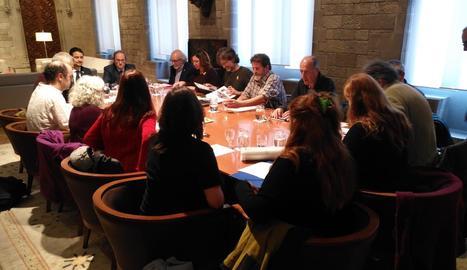 La reunión de los ecologistas con Torra y Calvet.