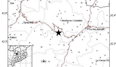 Un terratrèmol de 4,3 sacseja el Pirineu de Lleida