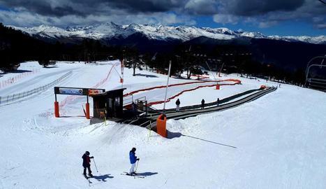 Les recents nevades han deixat les pistes de Port Ainé en molt bones condicions.