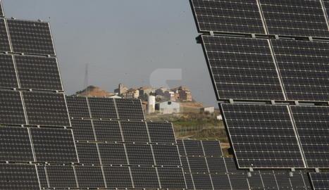 Panells fotovoltaics.