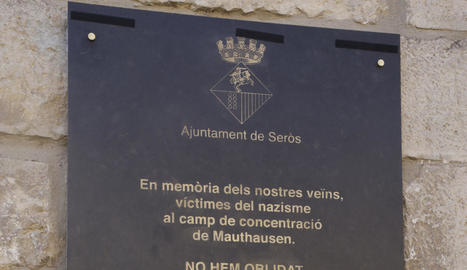 homenatge. Acte en record dels veïns de Serós que van patir la repressió nazi.